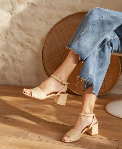 Sandals n°889 Natural