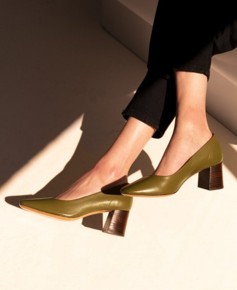 Babies n°590 Olive Leather| Rivecour