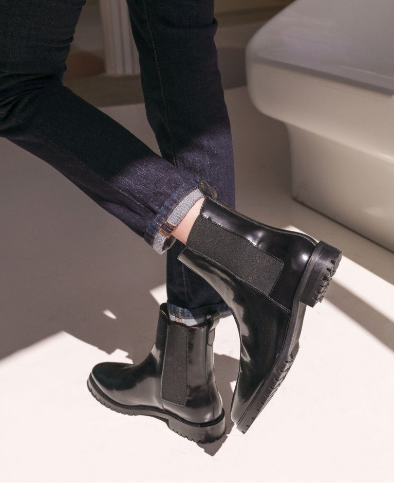 Boots n°500 Black Leather| Rivecour