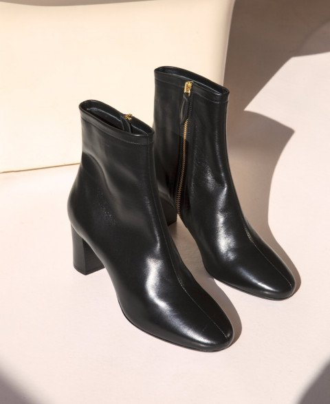 Boots n°241 Black leather | Rivecour