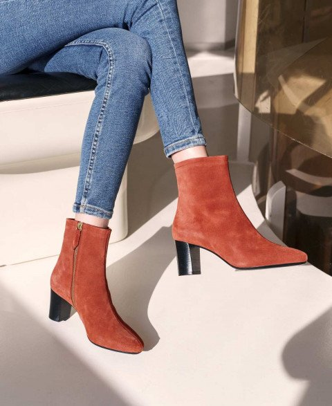 Boots n°241 terracotta Suede   Rivecour