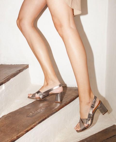 Sandals n°652 Silver