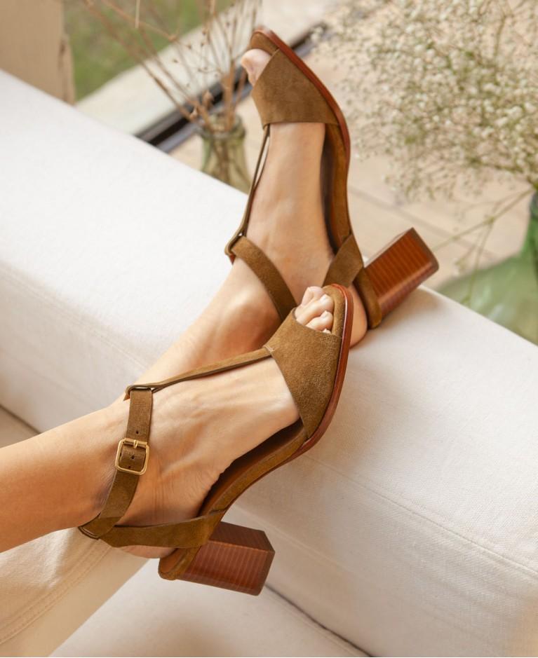 Sandals n°651 Ecorce Suede| Rivecour