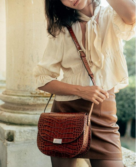 Bag n°802 Brown Croco