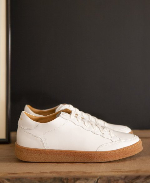Sneakers n°14 White/Honey Sole