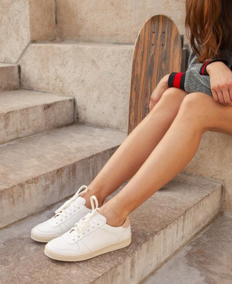 Sneakers n°12 White/Nude