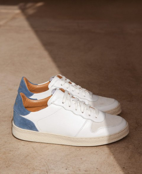 Sneakers n°12 White/Blue/Blue
