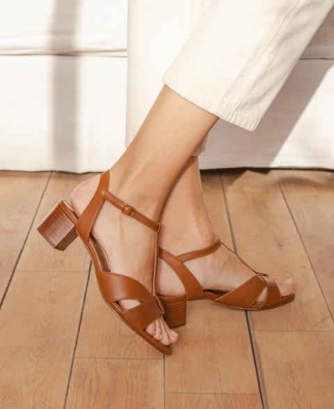 Sandales n°452 Cognac