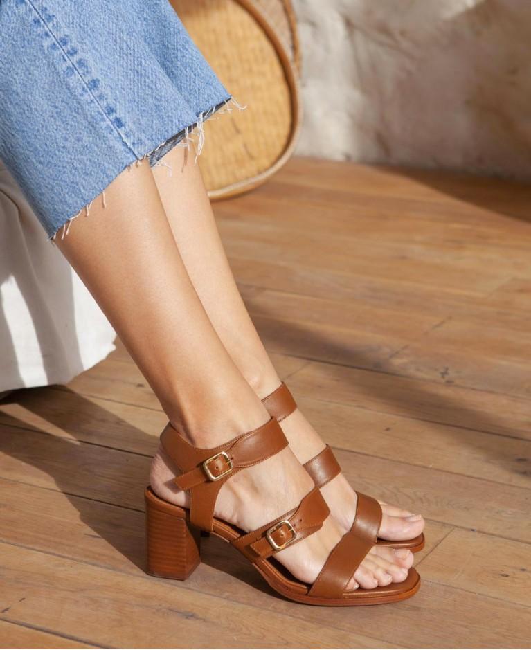 Sandals n°45 Cognac Leather| Rivecour